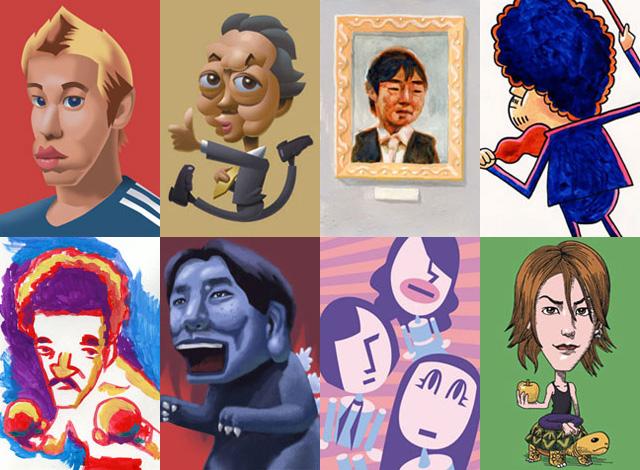 小技のイラスト作品集の似顔絵2