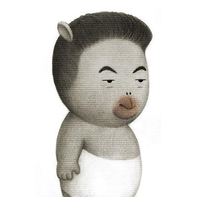 大和田獏 不思議の顔の似顔絵