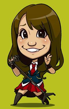AKB48大島優子のイラスト
