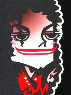 マイケルジャクソンの似顔絵イラスト
