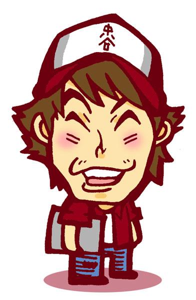 エガオーピンクが描いた中谷よしふみの似顔絵