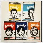 嵐を缶ジュースパッケージにした似顔絵イラスト! by JERRY