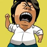 織田裕二のモノマネ山本高広の「キターー!!」のイラスト