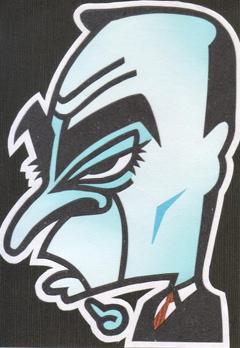 カルロスゴーンの似顔絵イラスト