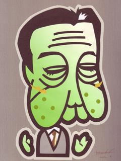 野田首相の似顔絵イラスト